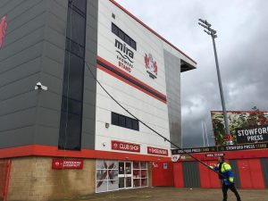 window cleaning at Gloucester rugby