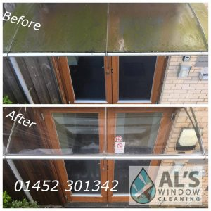 window cleaning in newent from green to clean