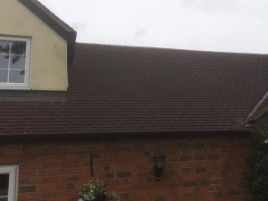 soft wash roof cleaning Gloucester before pic