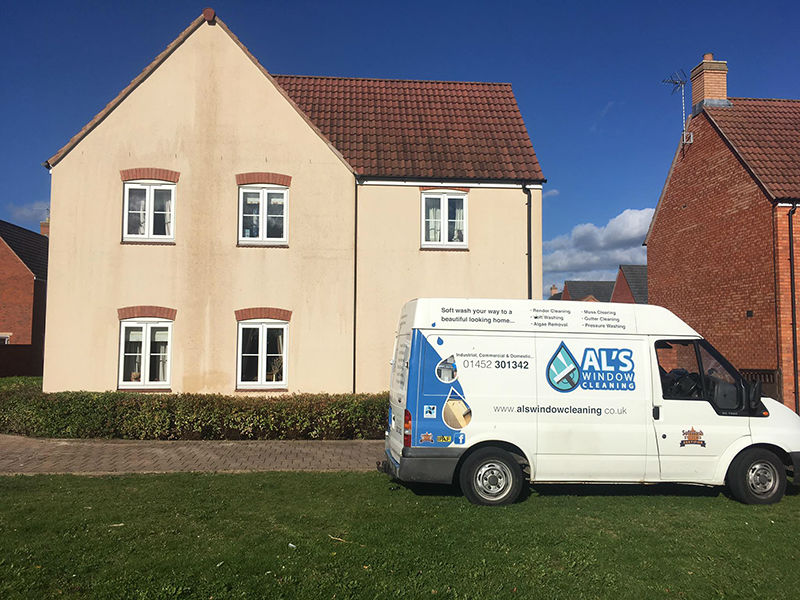 Render cleaning Gloucester, Gloucestershire