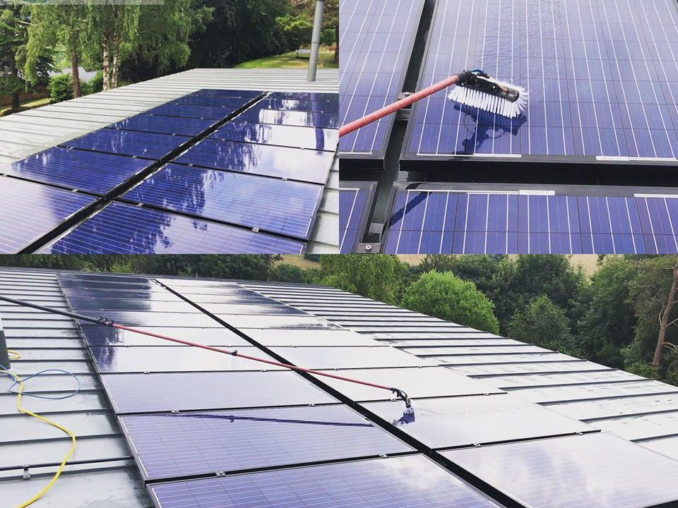 solar panel cleaning in the cotswolds, Gloucestershire